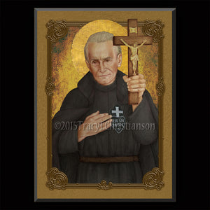 St. Paul of the Cross Plaque & Holy Card Gift Set