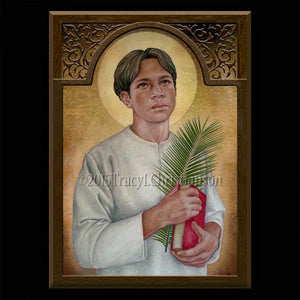 St. Pedro Calungsod Plaque & Holy Card Gift Set