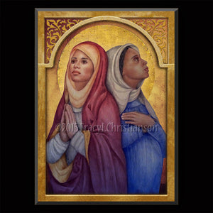 St. Perpetua & St. Felicity Plaque & Holy Card Gift Set