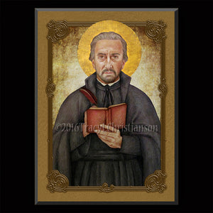 St. Peter Canisus Plaque & Holy Card Gift Set