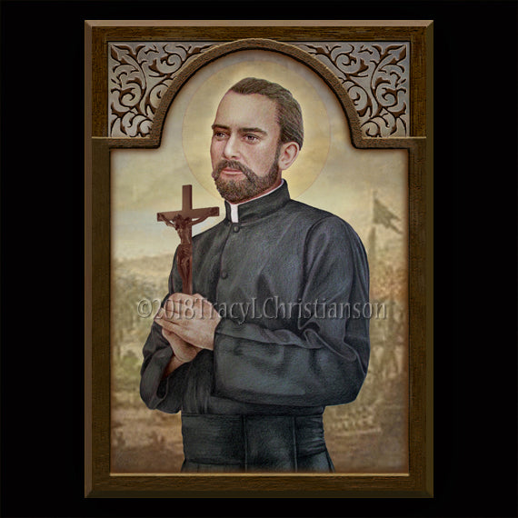 St. Peter Claver Plaque & Holy Card Gift Set