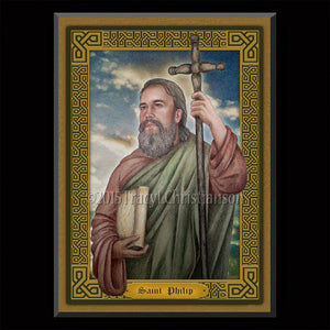 St. Philip the Apostle Plaque & Holy Card Gift Set
