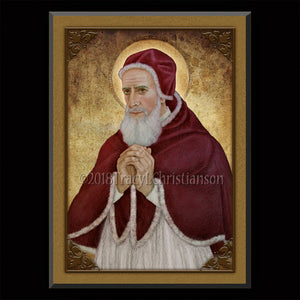 Pope St. Pius V Plaque & Holy Card Gift Set