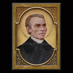St. Peter Julian Eymard Plaque & Holy Card Gift Set