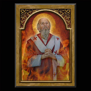 St. Polycarp Plaque & Holy Card Gift Set