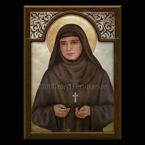 St. Rafqa Plaque & Holy Card Gift Set
