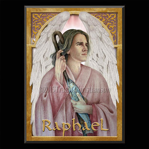 St. Raphael the Archangel Plaque & Holy Card Gift Set