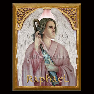 St. Raphael the Archangel 8x10 Plaque