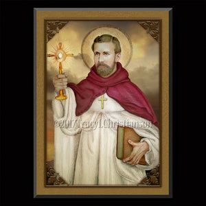St. Raymond Nonnatus Plaque & Holy Card Gift Set