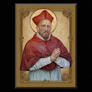 St. Robert Bellarmine Plaque & Holy Card Gift Set