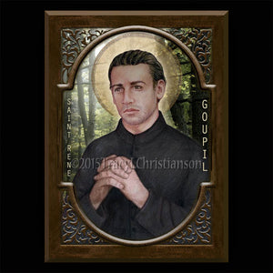 St. Rene Goupil Plaque & Holy Card Gift Set