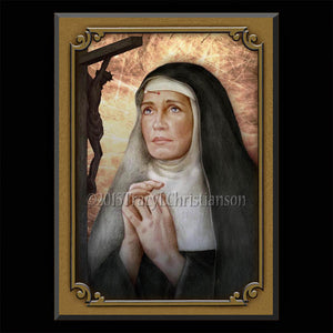 St. Rita of Cascia Plaque & Holy Card Gift Set