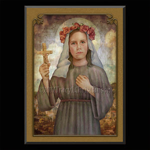 St. Rose of Viterbo Plaque & Holy Card Gift Set
