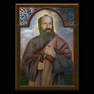 St. Simon the Apostle Plaque & Holy Card Gift Set