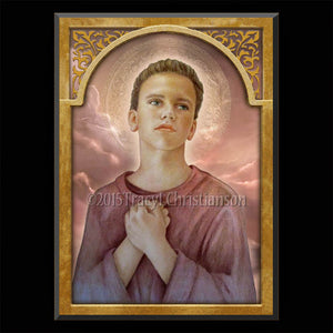 St. Tarcisius Plaque & Holy Card Gift Set