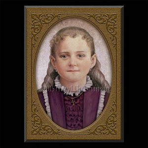 St. Therese of Lisieux, the Little Flower Plaque & Holy Card Gift Set