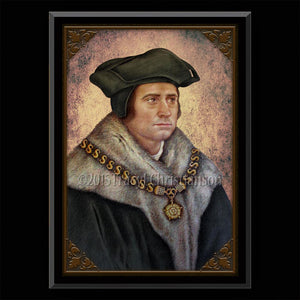 St Thomas More Plaque & Holy Card Gift Set