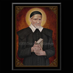 St. Vincent de Paul Plaque & Holy Card Gift Set