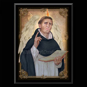 St. Vincent Ferrer Plaque & Holy Card Gift Set