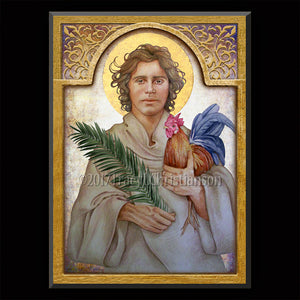 St. Vitus Plaque & Holy Card Gift Set