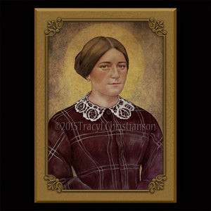 St. Zelie Martin Plaque & Holy Card Gift Set