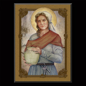 St. Zita Plaque & Holy Card Gift Set