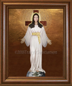 Our Lady of Akita Framed