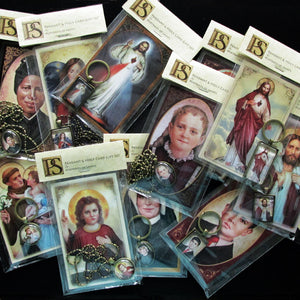 St. Joseph, The Most Chaste Heart, Pendant & Holy Card Gift Set