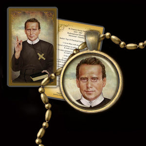 Bl. Fr. Francis Xavier Seelos Pendant & Holy Card Gift Set