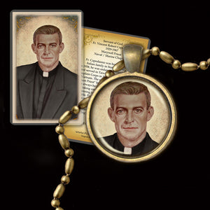 Fr. Vincent Capodanno Pendant & Holy Card Gift Set