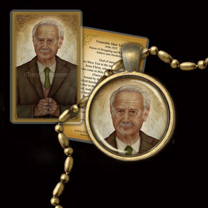 Matt Talbot Pendant & Holy Card Gift Set