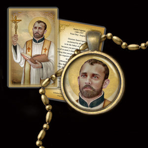 St. Cajetan Pendant & Holy Card Gift Set