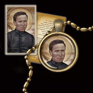St. Damien of Molokai Pendant & Holy Card Gift Set