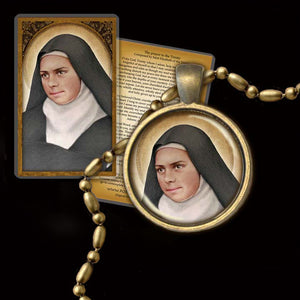 St. Elizabeth of the Trinity Pendant & Holy Card Gift Set