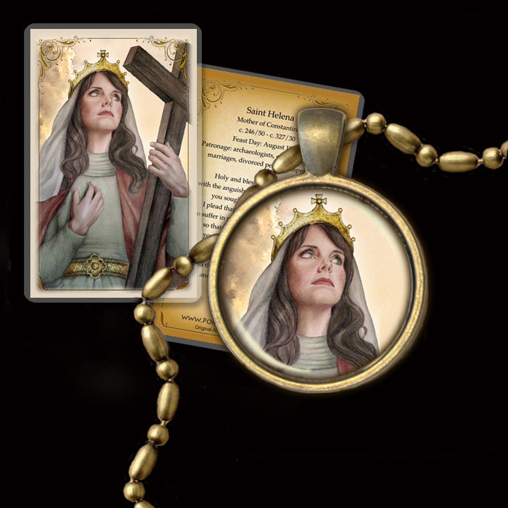 St. Helen Pendant & Holy Card Gift Set