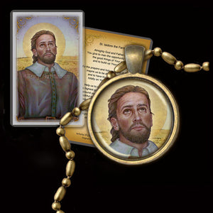 St. Isidore the Farmer Pendant & Holy Card Gift Set