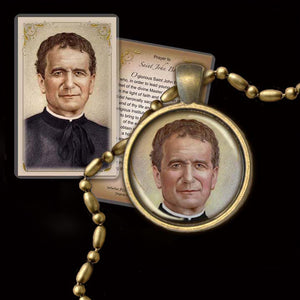 St. John Bosco Pendant & Holy Card Gift Set