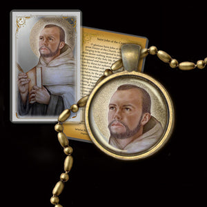 St. John of the Cross Pendant & Holy Card Gift Set
