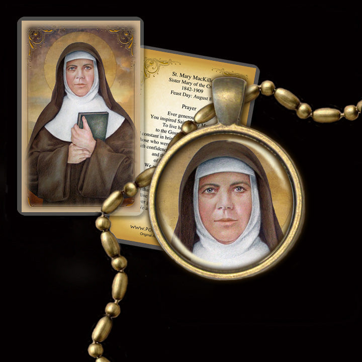 St. Mary MacKillop Pendant & Holy Card Gift Set