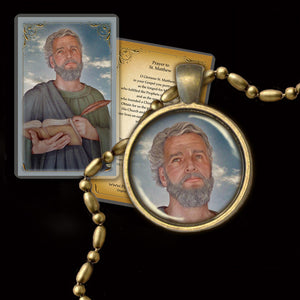 St. Matthew the Apostle Pendant & Holy Card Gift Set