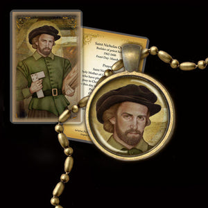 St. Nicholas Owen Pendant & Holy Card Gift Set