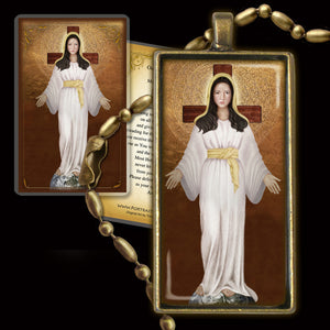 Our Lady of Akita Pendant & Holy Card Gift Set