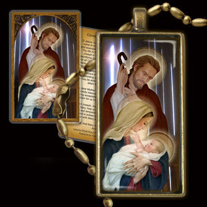 Holy Family (D) Pendant & Holy Card Gift Set