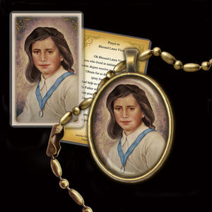 Bl. Laura Vicuna Pendant & Holy Card Gift Set