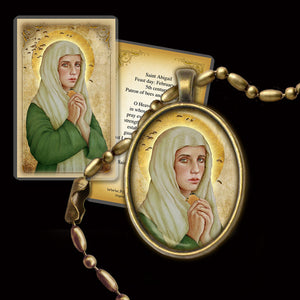 St. Abigail Pendant & Holy Card Gift Set