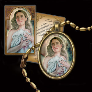 St. Agatha Pendant & Holy Card Gift Set