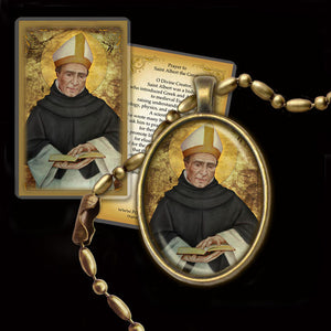 St. Albert the Great Pendant & Holy Card Gift Set