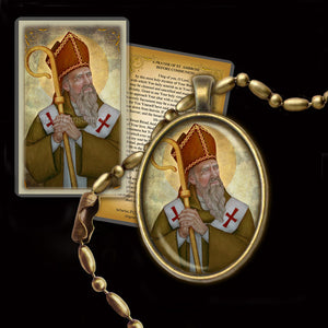 St. Ambrose Pendant & Holy Card Gift Set