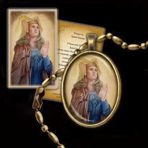 St. Emma of Gurk Pendant & Holy Card Gift Set