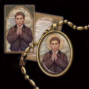 St. Francisco Marto Pendant & Holy Card Gift Set